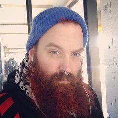 thatsmrfaggottoyou:  Keeping it cold on the commute. Tgif. #icebox #beard #instabeard #misterfaggot #commutin #werklooks #lookslookslooks