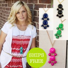 BLOW OUT SALE on these bubble pendant necklaces only $5.95, FREE SHIPPING