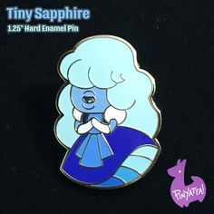Tiny Sapphire Hard Enamel Pin Steven Universe