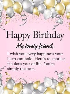 Of course, your BFF deserves the best happy birthday from you! So, why not use one of these happy birthday quotes to make your BFF feel extra special. Birthday Wishes For A Friend Messages, Happy Birthday Wishes For A Friend, Friend Birthday Quotes, Birthday Wishes Messages, Birthday Blessings, Best Birthday Wishes, Happy Birthday Greetings, Birthday Greeting Cards, Fabulous Birthday