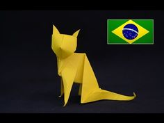 Como fazer um gato realista de origami. Faça você mesmo seu próprio gatinho de papel, este origami é de nível intermediário, mas trouxe para vocês um vídeo e...