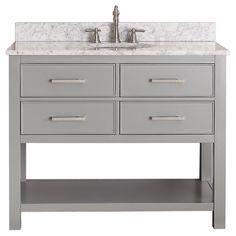 Avanity Brooks Chilled Grey 42-inch Vanity Combo | Overstock.com Shopping - The Best Deals on Bathroom Vanities