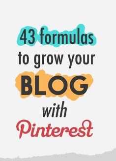 43 Formulas To Drive Traffic To Your Blog Using Pinterest. Learn more @ twelveskip.com