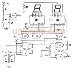 Este velocímetro digital para bicicletas con 4026 y 4011 utiliza 2 interruptores tipo reed switch para recolectar los datos de la velocidad