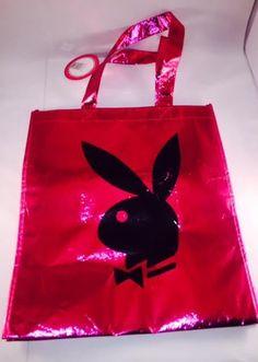 NEW Shiny Red Metallic Playboy Bunny Tote Bag Hugh Hefner Playboy Logo NWT #Playboy #totebag
