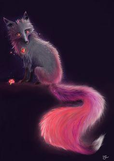 Neon fox. Art by Iva Trstenjak.