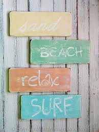 beach signs - I like the distressed look