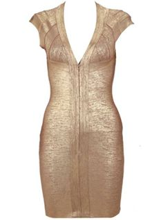 V Neck Printed Bandage Dress H194J