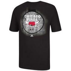 adidas NBA Dime Hoop T-Shirt - Men's - Basketball - Clothing - Chicago Bulls - Black