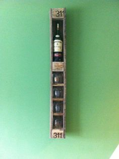 pallet whiskey rack - Google Search