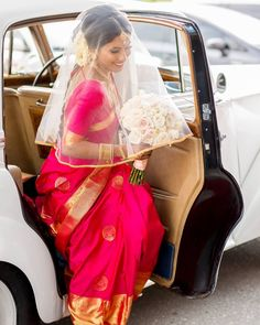 When you make stepping out of a car look good! What a huge difference a great veil makes. Especially a sheer one that we can see you… Braided Hairstyles, Hairstyle Braid, Tamil Wedding, Kanjivaram Sarees, Makeup Step By Step, Stepping Out, See You, Bridal Looks, Bridal Makeup