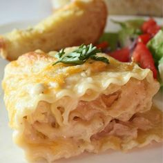 Chicken Alfredo Roll-Ups. These are made with homemade Alfredo sauce and they are absolutely delicious!