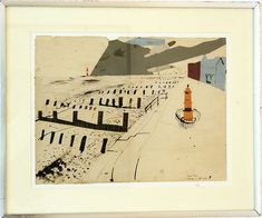 Littlestone on Sea 1936 - John Piper by Kotomicreations, via Flickr