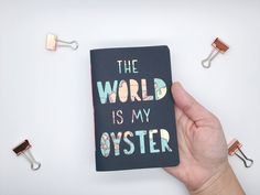 Pocket notebook, small journal, gift for travellers, unique notebook, gap year gift, hand lettered, graduation gift, jotter, hand stitched by Preposterouspigeon on Etsy https://www.etsy.com/uk/listing/551592460/pocket-notebook-small-journal-gift-for