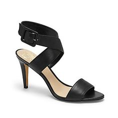 """CASARA-The timeless Casara is about to take up a prime spot on your shoe rack. This principal sandal has an X-forming ankle strap with a covered buckle and heel. Add a prim center pleat skirt and a sleeveless sweater for a sweet vintage vibe.  <li> 3.25"""" heel"""