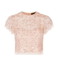 Needle & Thread Embellished Starlit Top available to buy at Harrods. Fancy Tops, Dressy Tops, Trendy Outfits, Fashion Outfits, Penelope, Embellished Top, Pleated Midi Skirt, Needle And Thread, Pink Tops