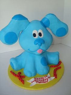 blues clues fondant sculpture cake