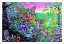 "TrippyStore.com - Alice In Wonderland ""Caterpillar Hookah"" Black Light Poster"