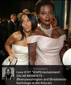 "Kerry & Viola lookin like ""Girl this party ain't hittin' on NOTHIN! Let's go to Snoop's after party!"" HAHAHAHAHAAH!"