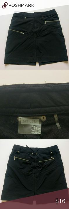Athleta Nylon lined skirt In great used condition  Waist 29in Length 18 in  Great for fall/spring  All reasonable offers considered! Athleta Skirts