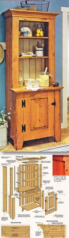 Stepback Cupboard - Furniture Plans and Projects | WoodArchivist.com