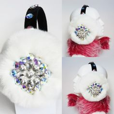 white faux fur earmuffs,ear muffs,winter,scream queens,chanel 3,dolce... ($73) ❤ liked on Polyvore featuring accessories, white faux fur earmuffs, white earmuffs and faux fur earmuffs