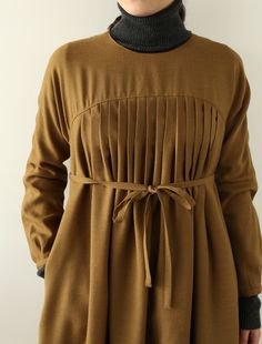 Brown wool and alpace : Io Lisette dress