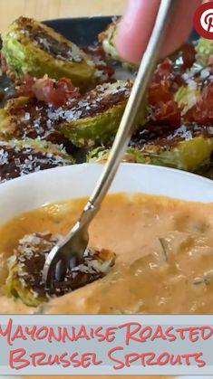 Side Dish Recipes, Low Carb Recipes, Diet Recipes, Vegetarian Recipes, Cooking Recipes, Healthy Recipes, Sprout Recipes, Vegetable Recipes, Mayonnaise
