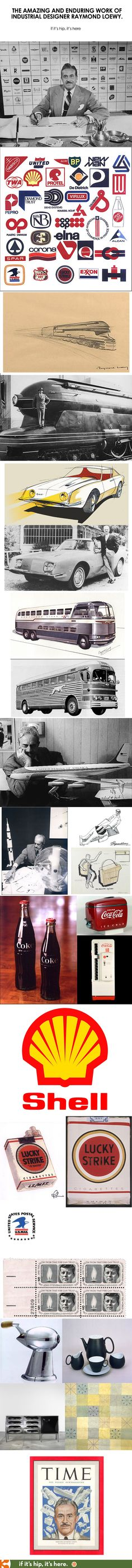 A look at some of Industrial Designer Raymond Loewy's brilliant work at if it's hip, it's here.