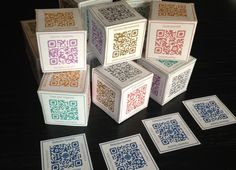 qr coded reflection dice