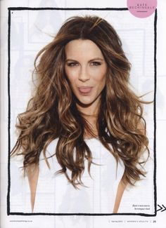 Kate Beckinsale's hair! it's beautiful....why can't my hair look like that huh?