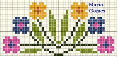 Maria Gomes : Os Meus Gráficos de Ponto Cruz Hawaiian Quilt Patterns, Hawaiian Quilts, Cross Stitch Embroidery, Tinkerbell, Alphabet, Alice, Floral, Flowers, Google
