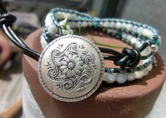 Vitality and Courage Bracelet  Mother of Pearl by OffOnAWhim, $37.00