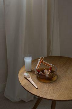Food stylism, langoustine en bouillon , saké et tartare