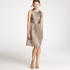 Marguerite dress in silk charmeuse (color is cobblestone) $129.99 from J.Crew