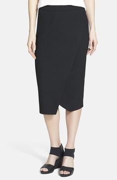Eileen Fisher Faux Wrap Jersey Skirt An easy and comfy skirt in a cool shape.