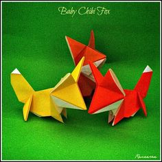 Life's Simple Pleasure: Origami Design - Baby Chibi Fox Cubs