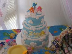 carebears babies cakes | Care Bears baby shower cake or baby's 1'st birthday cake (you could ...