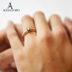 Bague mémoire. this ring perfectly matches other Rainbow memory rings and several styles of engagement and solitaire rings. It can be worn as a wedding ring, anniversary ring or simple ring. Solitaire Rings, Anniversary Rings, Wedding Rings, Rainbow, Engagement, Simple, Collection, Jewelry, Red