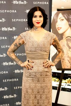 I wouldn't necessarily complain if everything from Kat von D's closet magically appeared in mine. Just sayin.