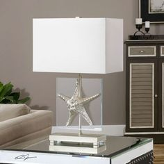 Just a little glam! Silver Starfish Table Lamp
