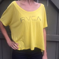 RVCA yellow loose top! NWOT RVCA yellow loose top! Super soft. Size medium. Bundle and save! RVCA Tops Tees - Short Sleeve