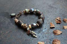 51.80 Rune Kenaz bracelet Norse bracelet for women rustic by solekoru