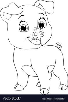 45 Trendy baby animals vector coloring pages Baby Animal Drawings, Art Drawings For Kids, Colorful Drawings, Disney Drawings, Easy Drawings, Farm Animal Coloring Pages, Easy Coloring Pages, Coloring Pages For Kids, Coloring Books