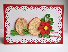 quilling my passion: Felicitare Paste/Easter card