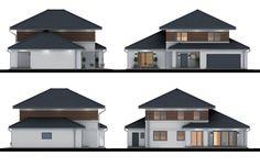 Projekt domu Verona IV 182.93 m² - Domowe Klimaty Bungalow House Design, House Entrance, Modern Buildings, Home Fashion, Verona, Ground Floor, Sweet Home, Shed, Floor Plans