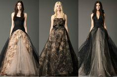 black Vera Wang wedding dresses.
