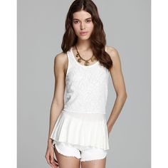 •Free People• Desert Rose Magnolia ️New with tags. Gorgeous white peplum tank by Free People. Made of 100% cotton. Scoop neckline. All reasonable offers made through the offer button are considered. No trades Free People Tops Tank Tops