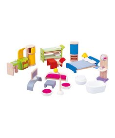 Take a look at this Modern Dollhouse Décor Set by PlanToys on #zulily today!