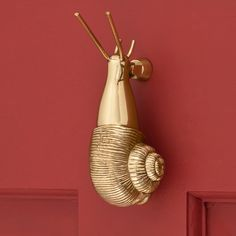 Snail Door Knocker - Polished & Lacquered Brass